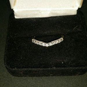 14k diamond band ring☆